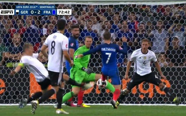 足の2つの絶妙なフリックはフランスにドイツに対する決定的な2-0のリードを与えました