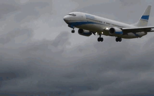 横風のためにボーイング737が着陸し、着陸し、再び離陸する恐ろしい瞬間