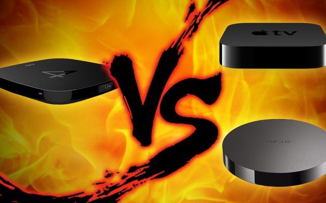 Pertarungan Set-Top Box: Apple TV vs. Nexus Player vs. Roku 4