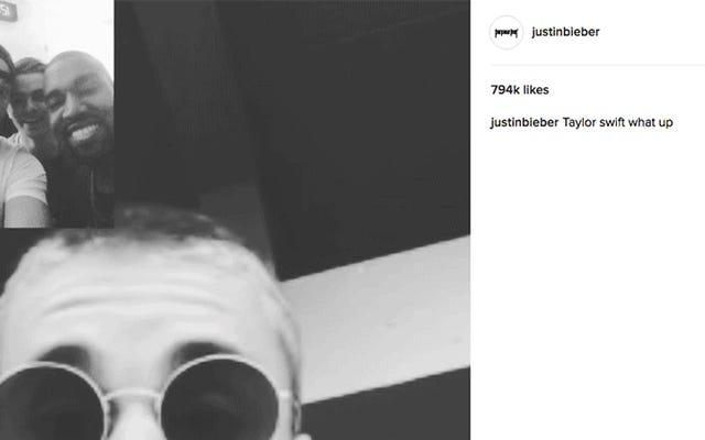 ジャスティンビーバーはカニエウェストとのFaceTimeチャットをInstagramでテイラースウィフトを罵倒します