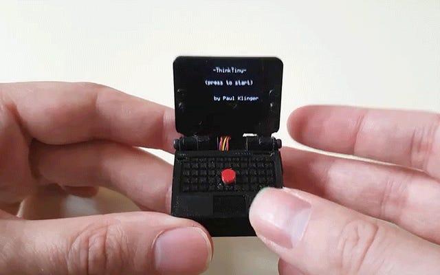 Cet ordinateur portable de jeu extrêmement petit recrée le mamelon emblématique du ThinkPad comme un joystick