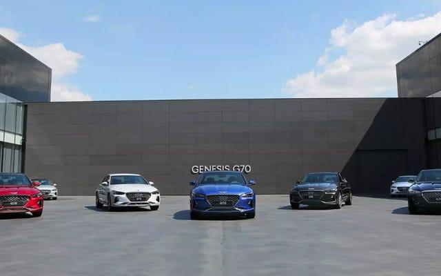 Các đại lý của Hyundai / Genesis không tham gia với việc nâng cấp đại lý