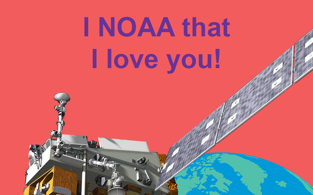 Spraw, by Twoja ukochana osoba się oswobodziła dzięki uroczym walentynkom o tematyce satelitarnej NOAA