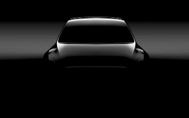 Tesla dejó caer un primer vistazo del modelo Y y no tiene espejos malditos