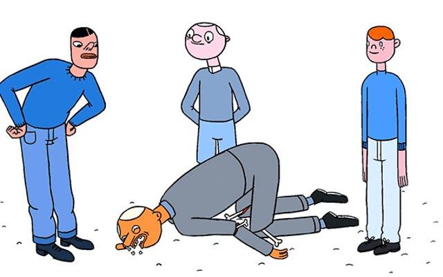 Des animations amusantes de NSFW montrent les façons absurdes dont notre corps peut mal tourner