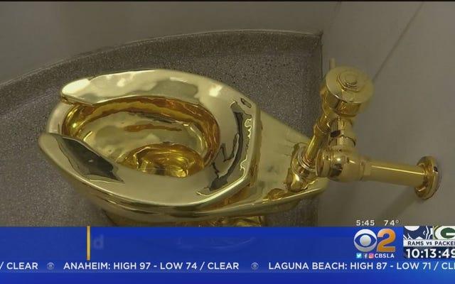 レポート:ホワイトハウスはグッゲンハイムにゴッホを求め、純金の中古トイレを提供しました