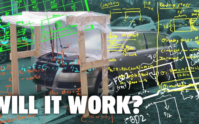 Alguém construiu um guindaste com motor de madeira. Vamos fazer matemática para ver se é seguro