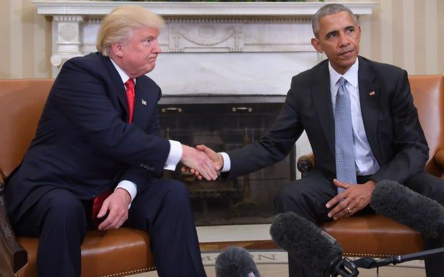 トランプ-オバマ選挙後のブロマンスは史上最悪の魔法の黒人映画です