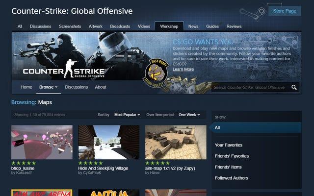 Le contenu du Steam Workshop doit désormais passer par un processus d'approbation