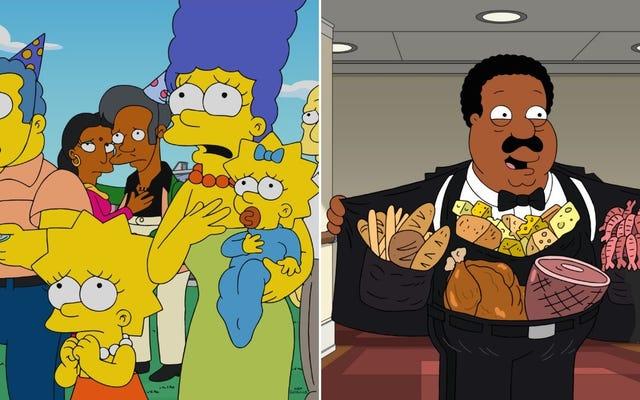 Les Simpsons ne joueront plus d'acteurs blancs dans des rôles non blancs, Cleveland de Family Guy démissionne
