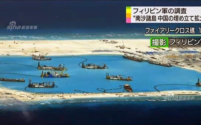Mire lo rápido que China está construyendo sus bases insulares de la nada