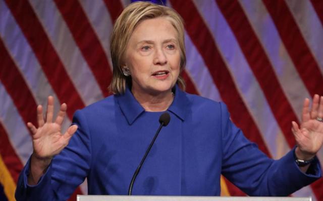 ヒラリー・クリントンが選挙に敗れた後、初めて公に登場
