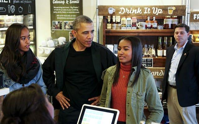 オバマはDCにとどまるので、サーシャは高校を卒業することができます