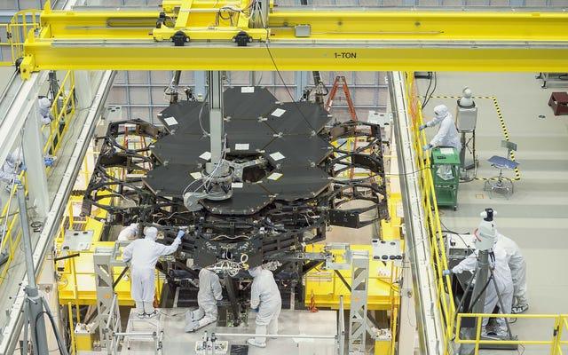 Aww Yeah, Kosmiczny Teleskop Jamesa Webba ma połowę luster!