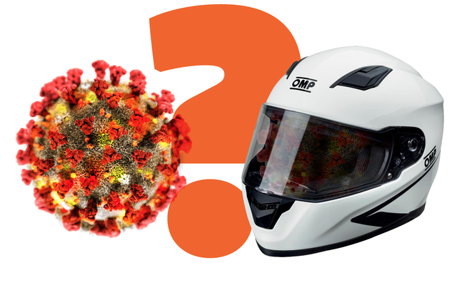 フルフェイスのレーシングヘルメットはコロナウイルスマスクに適していますか?