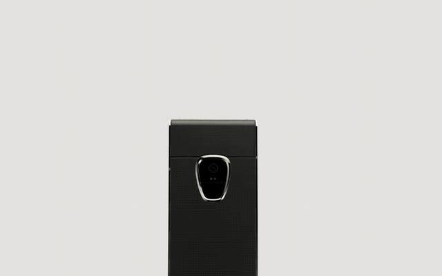 この電話には、ブロックチェーンとライオネルメッシの承認シール(?)の2つの画面があります。