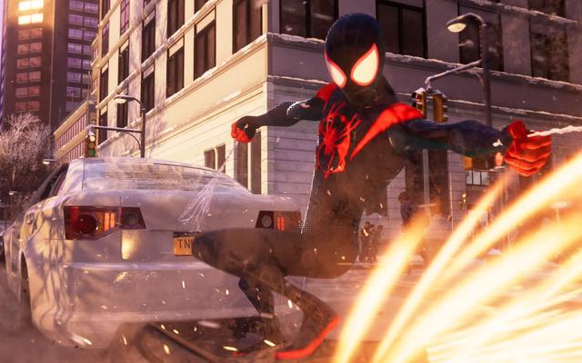 スパイダーマン:マイルズモラレスはスパイダーバーススーツに夢中