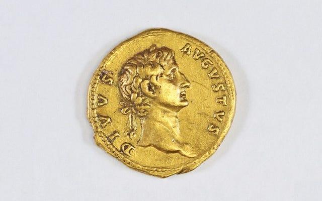 ハイカーが2、000年以上前の珍しい金貨を見つけた