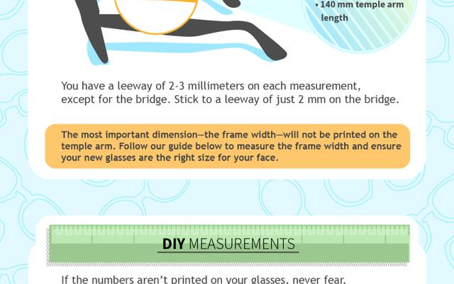 メガネとフレーム測定のビジュアルガイド
