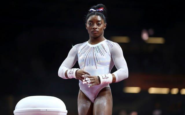 体操選手のシモーネ・バイルズが彼女の性的暴行の主張が米国体操関係者によって敷物の下で一掃されたことを学ぶ歴史