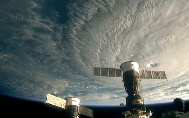 ハリケーンレーンは宇宙から恐ろしく見えます