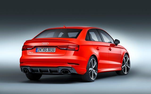 La berline Audi RS3 est une berline monstre à cinq cylindres de 400 chevaux qui arrive enfin en Amérique