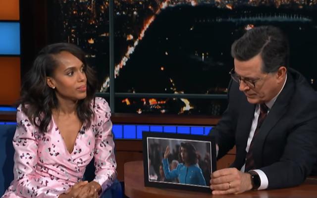 केरी वाशिंगटन ने अनीता हिल के अपने चित्रण में लोगों से द लेट शो में वोट देने का आग्रह किया