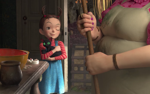 En Earwig and the Witch Trailer, un huérfano descubre que la magia corre en la familia