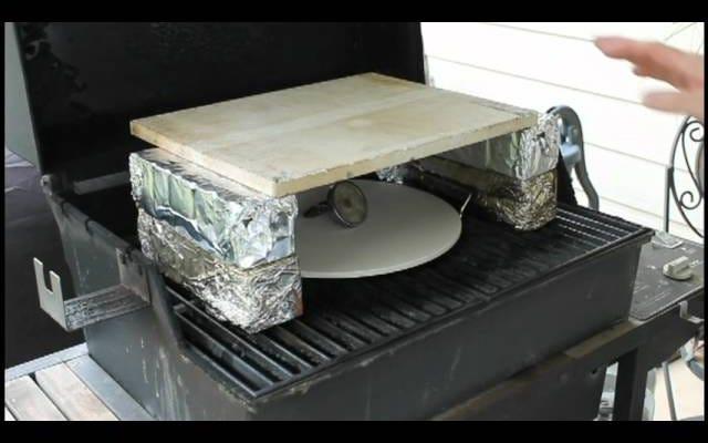 Trasforma la tua griglia a gas in un forno per pizza a buon mercato