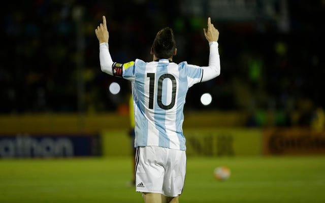 リオネルメッシがアルゼンチンのお尻を救う