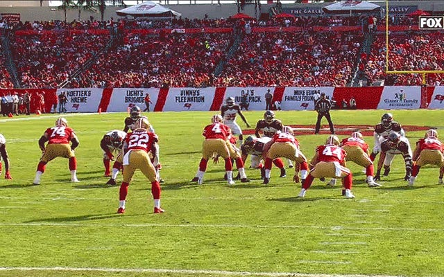 Équipe cul de la semaine: Oh ouais, les 49ers de San Francisco jouent toujours au football
