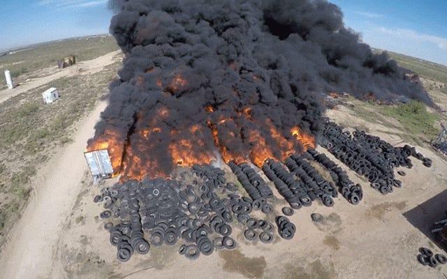 大規模なテキサスタイヤ火災が必要なEPAレスキュー