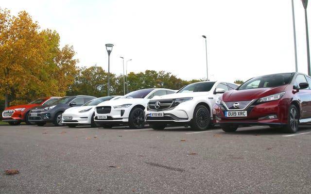 実際のテストでは、これらの電気自動車はメーカーが主張するほどの範囲を取得しません