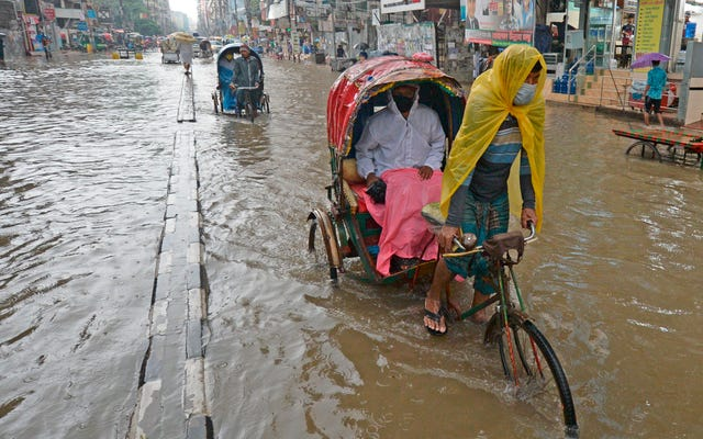 バングラデシュの最大3分の1が水中にあります