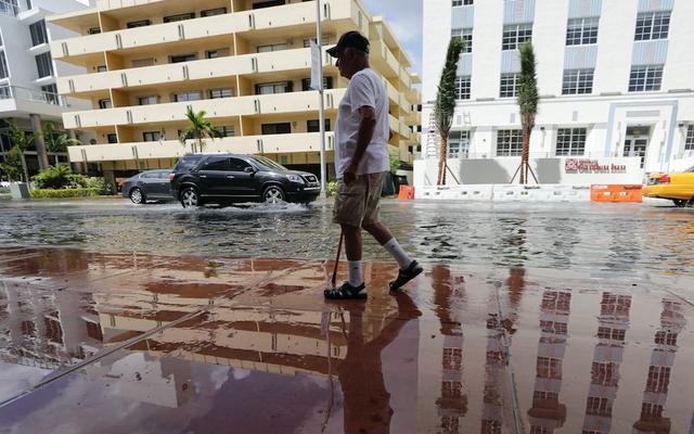 Miami już tonie z powodu wzrostu poziomu morza