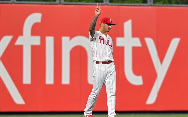 Phillies Pitcher Vince Velasquez était le meilleur voltigeur gauche au baseball pendant une nuit