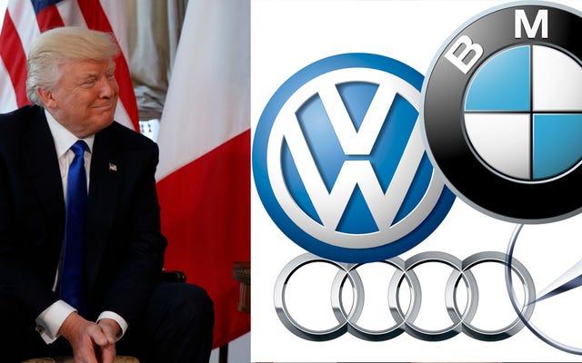 ドナルド・トランプはドイツ人を「非常に悪い」と呼び、「停止することを誓う」米国でのドイツの自動車販売:報告