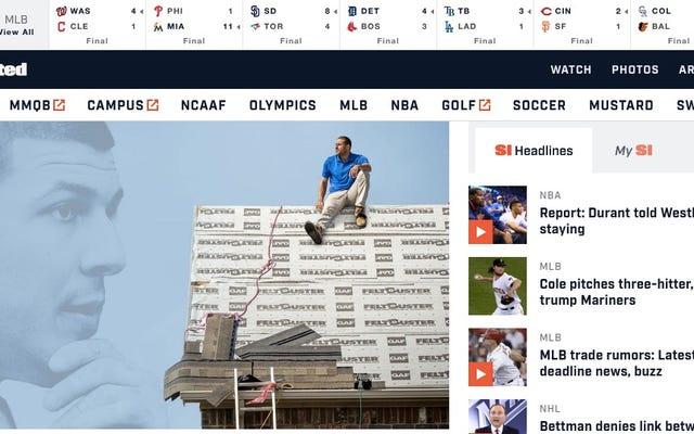 हमारा लंबा राष्ट्रीय दुःस्वप्न खत्म हो गया है: स्पोर्ट्स इलस्ट्रेटेड ने अपनी वेबसाइट को फिर से डिजाइन किया