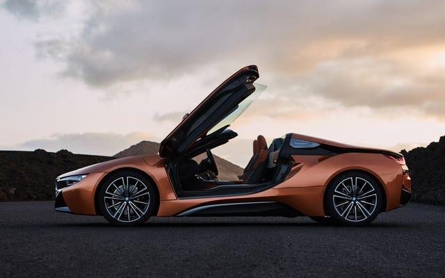 BMW i8 Coupe và Roadster Mới hiện có phạm vi hoạt động dài hơn và 374 mã lực