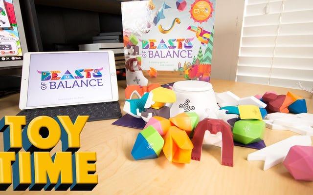Toy Time joue un combo de Pokémon et Jenga appelés Beasts Of Balance
