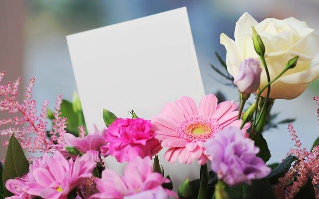 ビッグイベントの花をリタイヤメントホームに寄付する