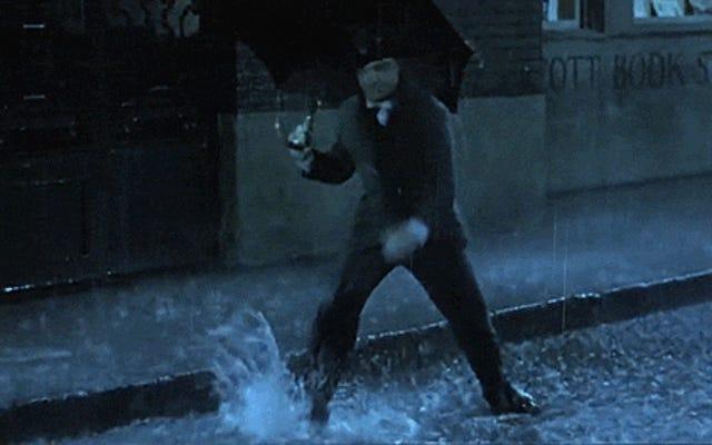 愚かなビデオは、人気のある映画のキャラクターを一緒に編集して、雨に唄えば