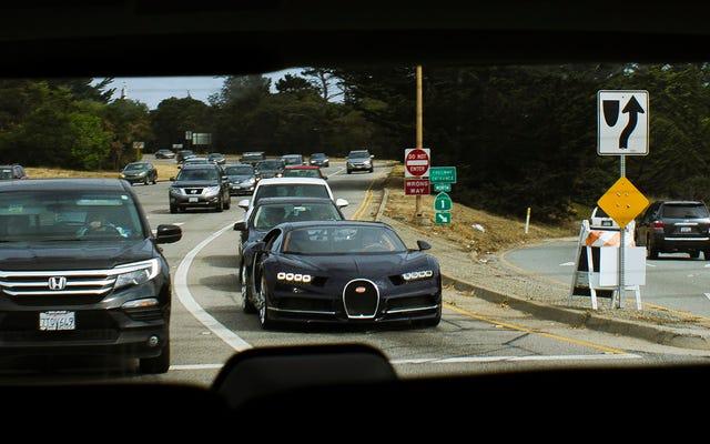 世界で最も高価な交通渋滞の様子