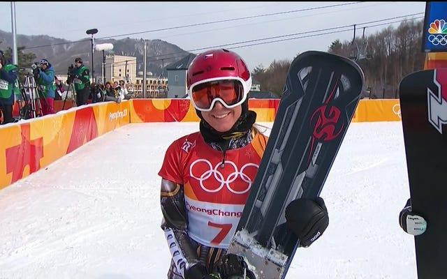 エステル・レデツカがスノーボードパラレルジャイアントスラロームで優勝、同じオリンピックで2つの異なるスポーツに優勝した最初の冬季オリンピック選手