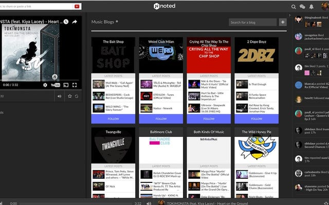 Noted.fm Memungkinkan Anda Mengikuti Lebih dari 100 Blog Musik untuk Menemukan dan Berbagi Lagu Baru yang Hebat