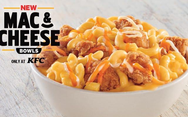 น่าเสียดายที่ Mac & Cheese Bowls ใหม่ของ KFC ขาดองค์ประกอบสำคัญอย่างหนึ่ง