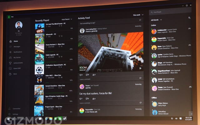 La nouvelle application Xbox de Microsoft apporte le DVR de jeu et le chat sur votre PC