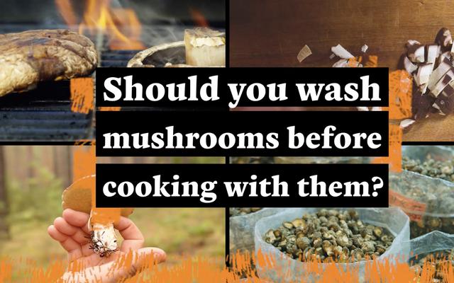 キノコを一緒に調理する前に洗うべきですか?