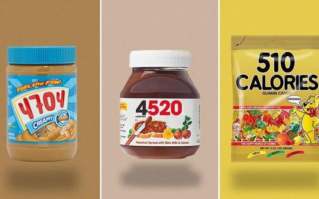 L'emballage alimentaire avec des calories totales ruine tout