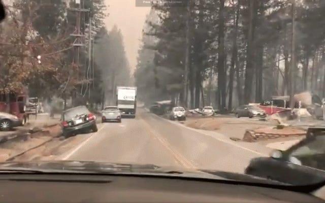 Aftermath Video montre que Wildfire a transformé le paradis en un paysage d'enfer étrange et apocalyptique